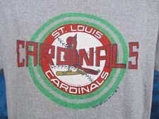 vintage 80s St. Louis Cardinals Trench T-Shirt Medium/Large baseball mlb thin
