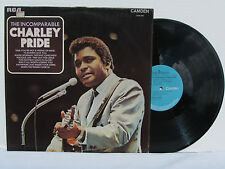 The Incomparable CHARLIE PRIDE vinyl LP RCA Camden CDS 1115 English import MINT!