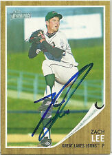2011 Topps Heritage ZACH LEE Signed Card DODGERS auto rc MCKINNEY, TX