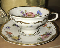 Vintage Edelstein Bavaria Maria Theresia gold edge 3735 Cup and Saucer set