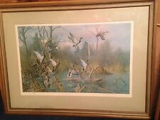 Harry Adamson Large Framed Artist Signed Wild Wings 1974 272/580 Limited Edition