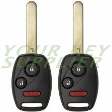 2 New Replacement 3 Button Remote Key OUCG8D-380H-A for 2002-2005 Honda CR-V