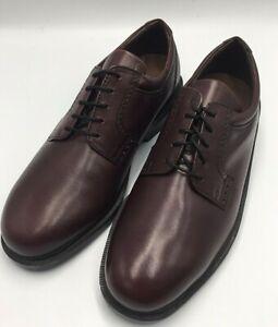 Florsheim Men's Noble Burgundy leather plain toe Dressy Size 8.5 M US
