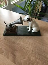 CAST IRON HMV HIS MASTERS VOICE DOG & GRAMOPHONE ORNAMENT & MICHELIN MAN