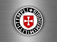 Sticker adesivo auto softair templare templari crociata stemma bandiera knights