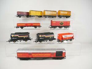 10 x OO Gauge Unboxed Wagons - Hornby etc.