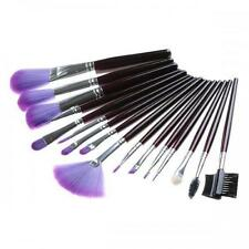 16 pcs Purple Cosmetic brushes Makeup Beauty Professionl case set pouch