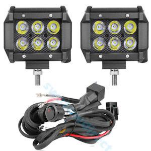 Chutoral 2Pcs LED Light Bar Submersible Driving Lights Flood Combo Beam Off Road Lights Fog Lights for Truck Trailer Pickup Boat Car SUV ATV RV