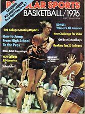 1976 Popular Sports, Basketball magazine, Rick Barry, Golden State Warriors ~ Fr