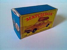 Boîte copie repro MATCHBOX LESNEY 45 ford corsair ( reproduction box vide )