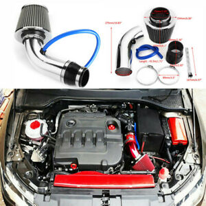 Universal Car Cold Air Intake Filter Induction Kit Pipe Power Flow Hose System