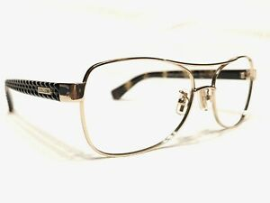 Coach HC7054 9209T5 Women's Gold & Tortoise Aviator Rx Eyeglasses Frames 56/16