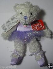 "GUND BEARS ""TINY BALLERINAS BEARS PURPLE"" 60014 NEW (2 BALLERINA BEARS)"