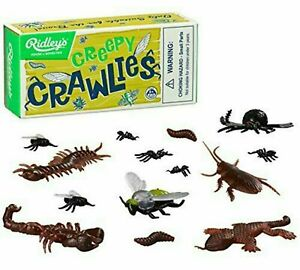 RIDLEYS Creepy Crawlies Kids Toy Bugs Gift Novelty Plastic Insects Retro Boxed