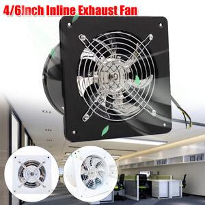 220V 4/6 In Wall Extractor Blower Silent Exhaust Ventilation Fan Window Bathroom
