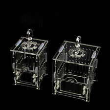 1X Cricket Grasshopper Cages Reptile Cage Transparent Acrylic Small Cage