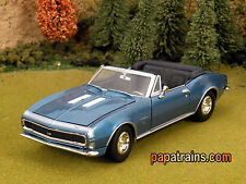 DieCast Blue 1967 Chevrolet Camaro Ss Convertible G Scale 1:24 by Showcasts
