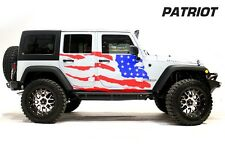 Custom Vinyl Decal Patriot Wrap Kit for Jeep Wrangler Rubicon 07-16 Red and Blue