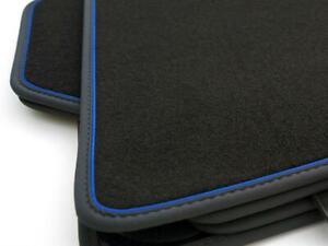 BMW Tappetini 1er F20/M1 (4.teilig) Originale Qualità Premium Velluto Blu Nuovo