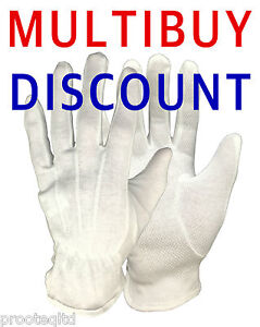 1 PAIR JEWELLERY ANTIQUES WATCH MAKERS HANDLING GLOVES WHITE COTTON MICRO DOTS