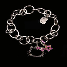 Kimora Lee Simmons Hello Kitty Sterling Silver Bracelet with Sapphires & Black D