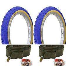 "Two 24x1.75"" Bmx Blue Gum Wall Comp 3 design tires & Tubes"