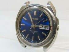 Vintage SEIKO BELL-MATIC ALARM WATCH 4006-7002 Blue S/S 17j AUTO Parts or Repair