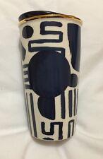 Starbucks Shapes Ceramic Tumbler Blue White Mug New 2015 US Ed Cup Coffee