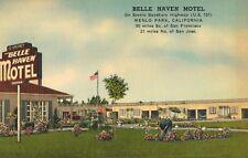 Menlo Park,California,Belle Haven Motel,San Mateo County,Linen,1940s