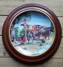 Fill'er Up Plate Farmland Memories Mort Kunstler John Deere Tractor