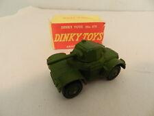 VINTAGE DIECAST ARMY TRUCK- VINTAGE DINKY TOYS ARMOURED CAR W/ BX -MECCANO - WW2