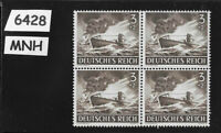 MNH Stamp Block / Hero's day 1943 / Third Reich Military Kriegsmarine U-Boat