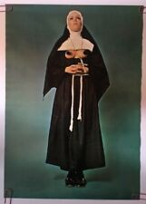 Meditation Original Vintage Poster Sexy Nun Naked Breasts Exposed Pin-up 1970's