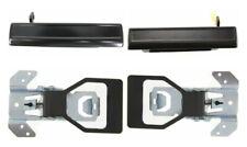 Set of 4 New Inside Outside Door Handles Kit Black for 1982-1992 Camaro Firebird