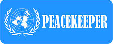 PEACEKEEPER UNITED NATIONS STICKER 66MMX170MM LAMINATED ADVERTISING VINYL