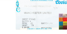 Chelsea et Manchester United 1994 - 1995 TICKET