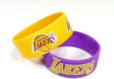LOS ANGELES LAKERS - SILICONE BRACELETS - 2 PACK - BRAND NEW - NBA-BC-207-25