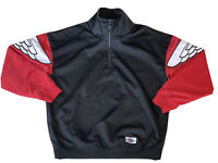 Nike Air Jordan Wings Quarter-Zip Jacket Black/Red (AO0406-011) Size S Men NEW
