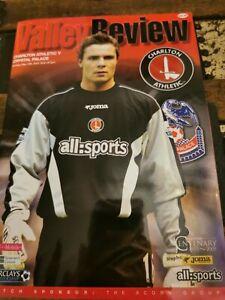 Charlton Athletic Crystal Palace Programme 15th May 2005