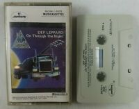 "1980 Def Leppard ""On Through The Night"" Audio Cassette Tape See Pics! Polygram"