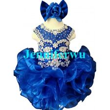 Infant/toddler/kids/baby/Girl's Pageant/prom/formal Dress size1-7 G204C