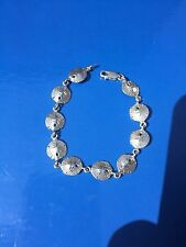NEW STERLING SILVER NAUTICAL JEWELRY SAND DOLLARS BRACELET TROPICAL SEA LIFE