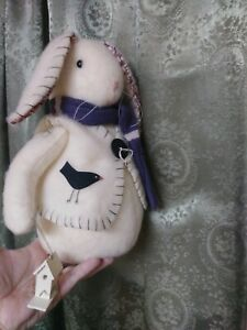Folk Art Vintage Primitive Rabbit Bunny Handmade Decoration Doll Easter