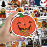 50Pcs Halloween Pack Luggage Laptop Pumpkin Bomb Fridge Deco Decal Vinyl Sticker