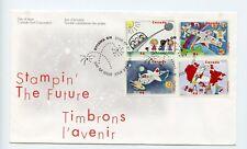 Canada FDC #1859-62 Stampin The Future Childrens Art 2000 73-4