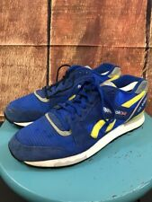 bba8f2f74e9 Men s Reebok GL 6000 Blue Yellow Athletic Sneekers Size 11.5