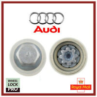 Audi New Locking Wheel Nut Key Bolt Letter J '809' UK Fast and Free