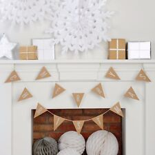 Merry Christmas Kraft Glitter Bunting by Ginger Ray decoration