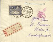Poland Sc#103(single frank) ZEGRZE 17/III/1920 Registered(label) POLISH-SOVIET