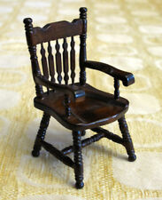 Vintage Dollhouse CONCORD MINIATURES Dark Wood ArmChair NEW